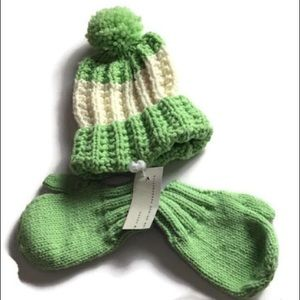 Other - Toddler's Hand Knitted UNIQUE Crochet Hat & Mitten